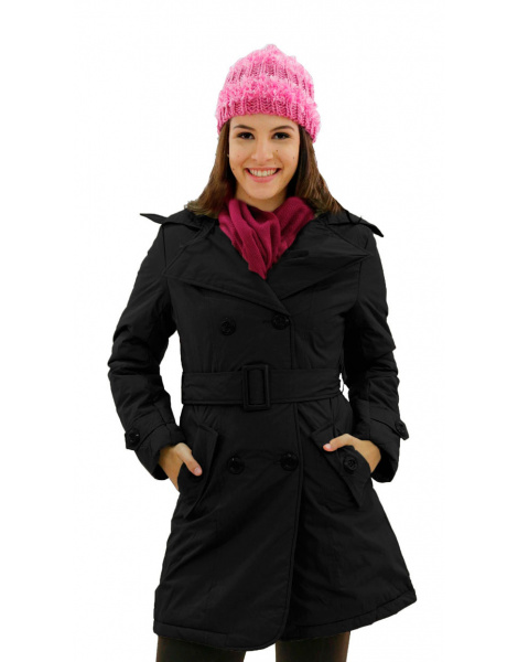 Trench Coat New York Preto - Oficina de Inverno