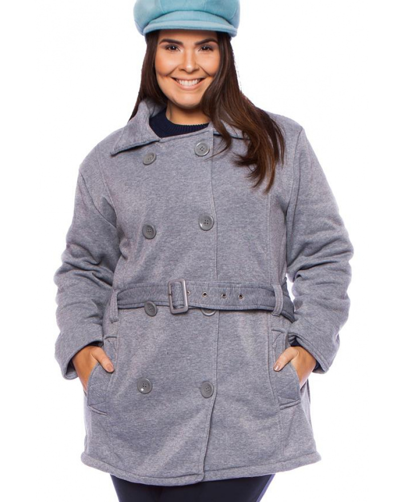 Moletom Trench Coat Everyday Cinza - Oficina de Inverno