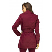 Trench Coat Windsor com Ziper Bordeaux